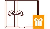 2. Aggiungi una scatola regalo e un biglietto personalizzato alla cassa